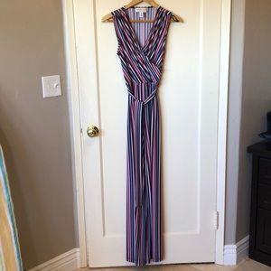 Donna Morgan Anthro NWOT striped jumpsuit